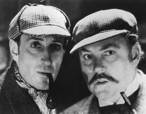 Holmes and Watson (original actors) (Photo from DVD)
