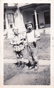 ccyager at 3 years old (right)